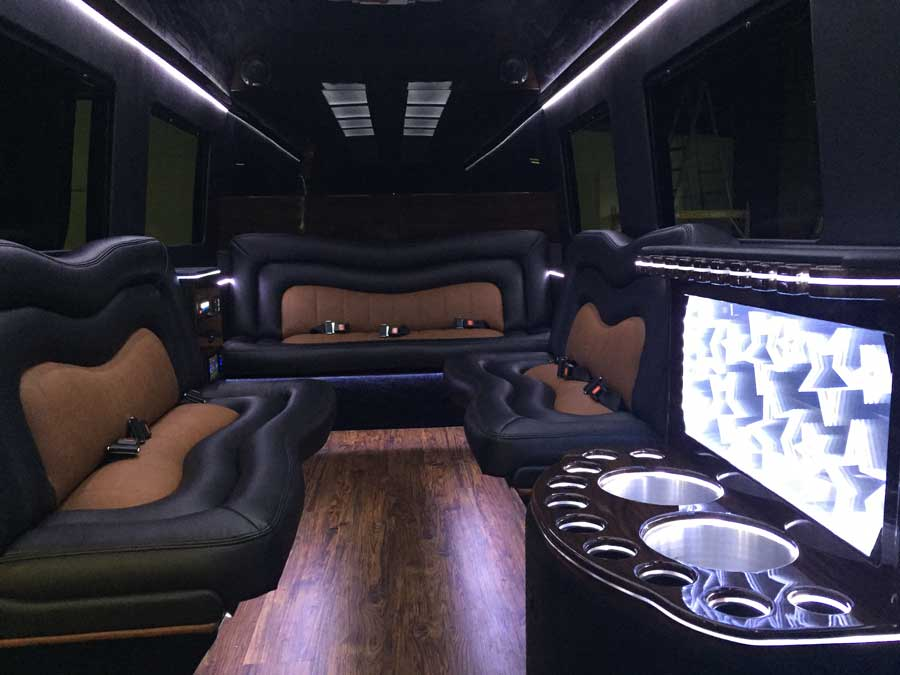 Mercedes-Benz Sprinter Luxury 12 Passenger Limo Seven Foot Interior Height