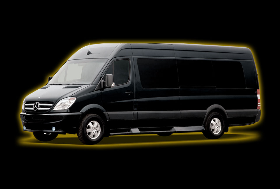 Mercedes-Benz Sprinter Luxury 12 Passenger Limo Services by Neumann Enterprises
