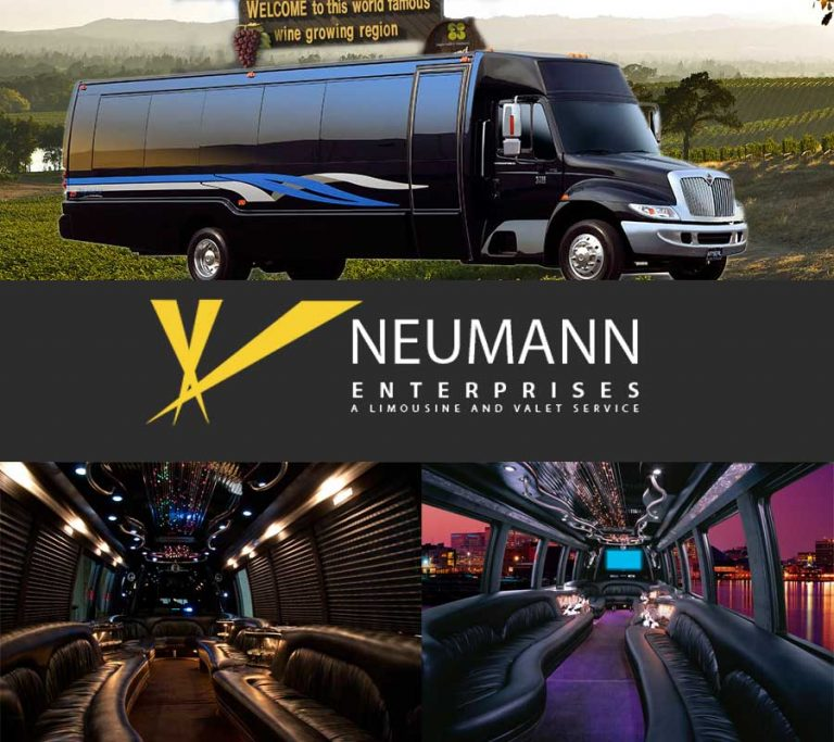 Luxury Limousine Party Bus at Neumann Limousine and Transportation